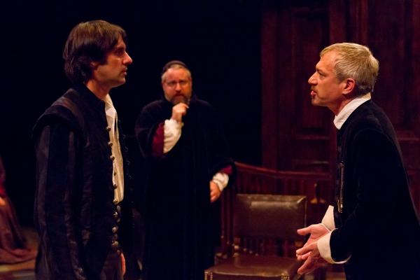 Sam Henderson (Baruch de Spinoza), David Bardeen (Rabbi Mortera), Seth Reichgott (Valkenburgh)