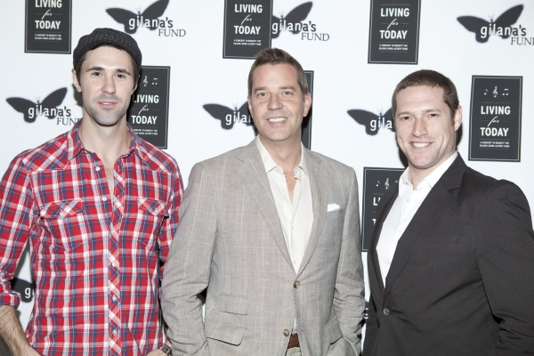 Christopher Johnstone, Steven Reineke and Victor Wisehart at Lazar, Case & More in LIVING FOR TODAY Benefit at Joe's Pub