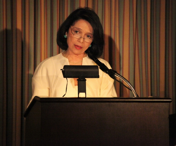Dr. Joyce F. Brown attending the 'Friends of Arts' Awards at the Princeton Club in New York City