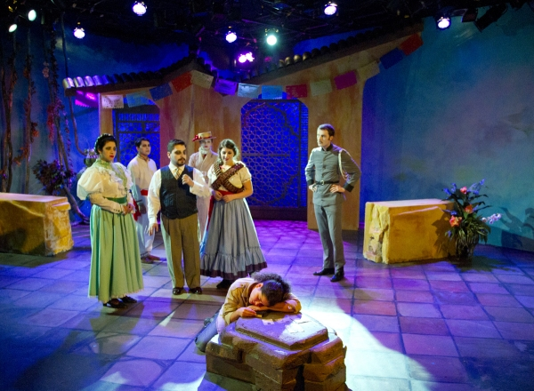 Nelda Reyes (center) surrounded by(left to right) Nurys Herrera, Alberto Romero, Enrique E. Andrade, Amber Mitchell, Cristina Cano and Noah Dunham