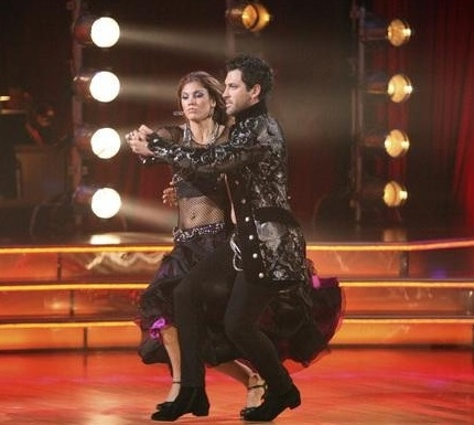 Hope Solo & Maksim Chmerkovsky at Highlights from Last Night's DANCING WITH THE STARS