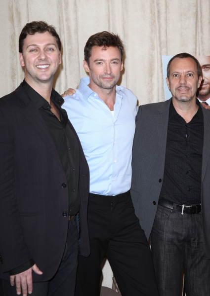 Warren Carlyle, Hugh Jackman & Patrick Vaccariello attending the Photo Call for 'Hugh Photo