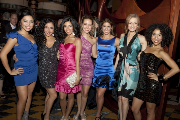 Catherine Ricafort, Sharon Sayegh, Halle Morse and the Ladies of MAMMA MIA!