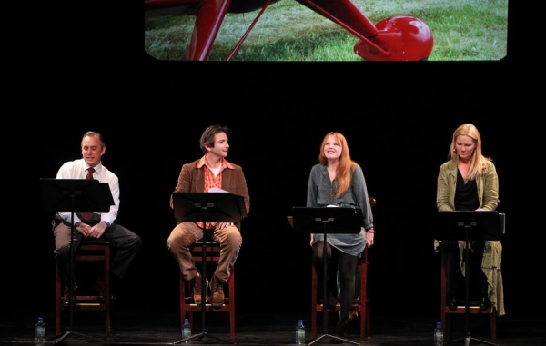 David Aaron Baker, Dan Futterman, Lauren Ambrose, Joan Allen at Lauren Ambrose, Joan Allen, et al. in DAUGHTER OF THE QUEEN OF SHEBA Reading