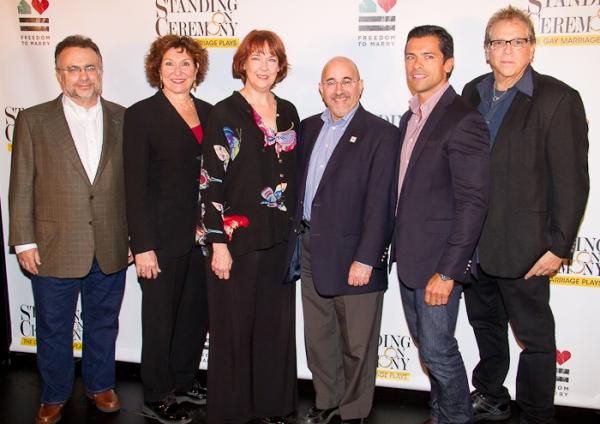 Richard Frankel, Joan Stein, Harriet Harris, Evan Wolfson, and Mark Consuelos