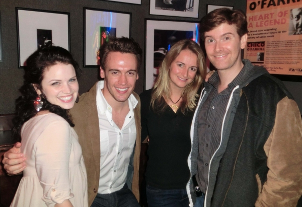 Lindsay Pearce, Erich Bergen, Nell Benjamin and Larry OKeefe at Jim Caruso's Cast Party At Birdland Part II