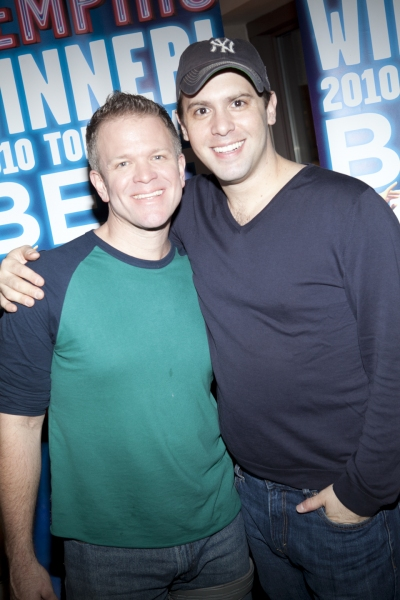 Anthony Galde and Brad Bass at MEMPHIS Celebrates 2 Years on Broadway!