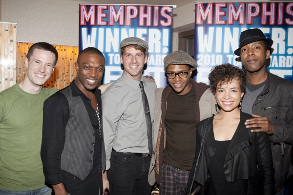 The Cast of Memphis at MEMPHIS Celebrates 2 Years on Broadway!