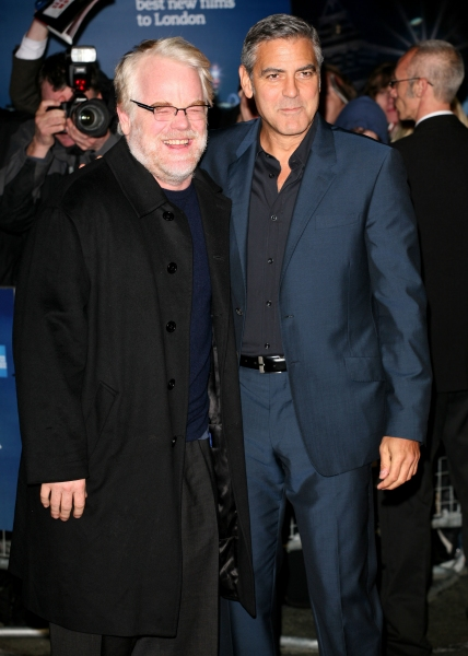 Oct. 19, 2011 - London, United Kingdom - George Clooney and Philip Seymour Hoffman arriving for The Ides Of March Premiere, Odeon Leicester Square, London. 19/10/2011 Picture by: Lexie Appleby / Snappers (Credit Image: © Snappers/ZUMAPRESS.com)