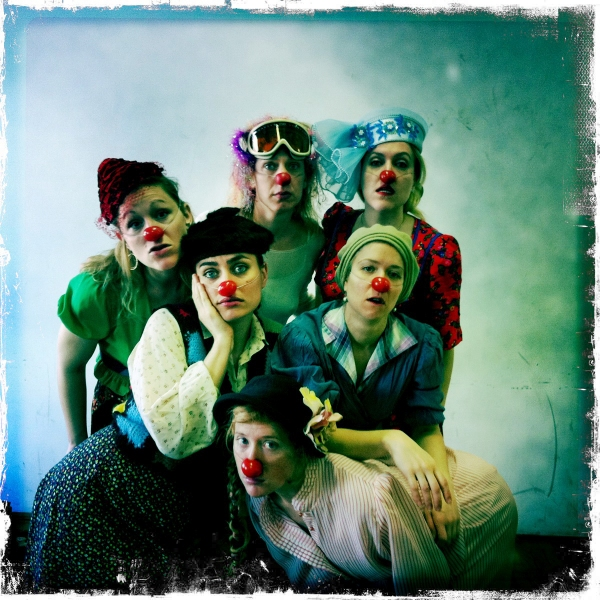 Members of Clowns Ex Machina's all-woman clown troupe