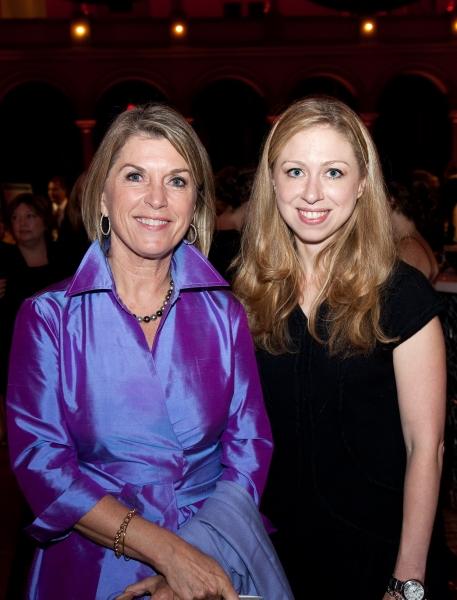 Kathleen Matthews and Chelsea Clinton