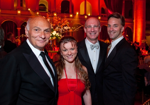 Shakespeare Theatre Company Artistic Director Michael Kahn, Opera Singer Lyubov Petrova, Jeffrey Akma and Steven Mazzola at Patrick Stewart, Chelsea Clinton & More Attend Shakespeare Theatre Company Gala