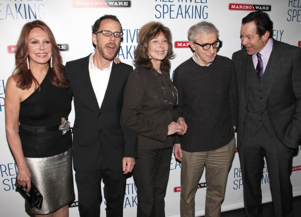 Marlo Thomas, Ethan Coen, Elaine May, Woody Allen & Steve Guttenberg  at RELATIVELY SPEAKING Celebrates Opening Night!
