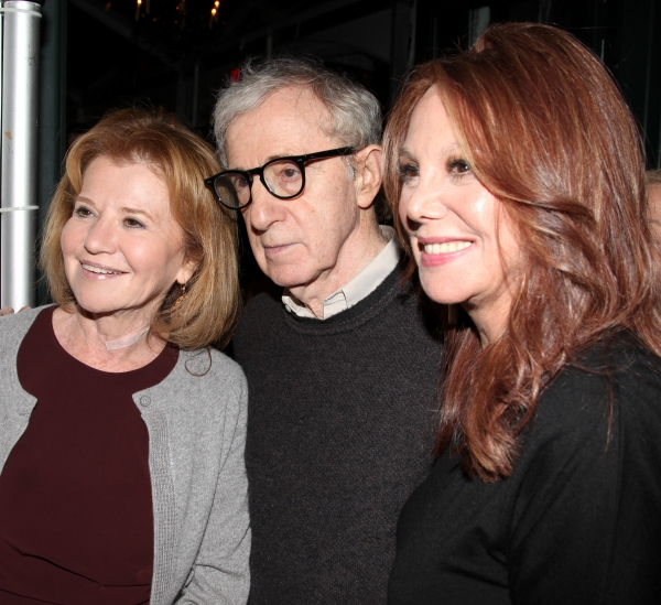Letty Aronson & Woody Allen with Marlo Thomas