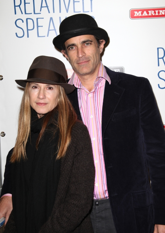 Holly Hunter with cool, friendly, fun, Boyfriend Gordon MacDonald
