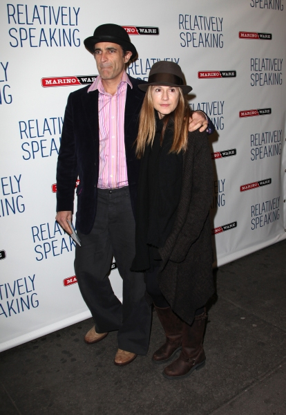 Holly Hunter & Gordon MacDonald at RELATIVELY SPEAKING Opening Night Curtain Call!