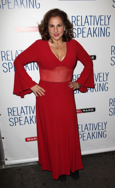 Kathy Najimy  at RELATIVELY SPEAKING Opening Night Curtain Call!