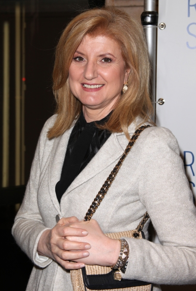 Arianna Huffington  at RELATIVELY SPEAKING Opening Night Curtain Call!
