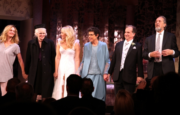 Lisa Emery, Patricia O'Connell, Ari Graynor, Julie Kavner, Mark Linn-Baker, Richard Libertini  at RELATIVELY SPEAKING Opening Night Curtain Call!
