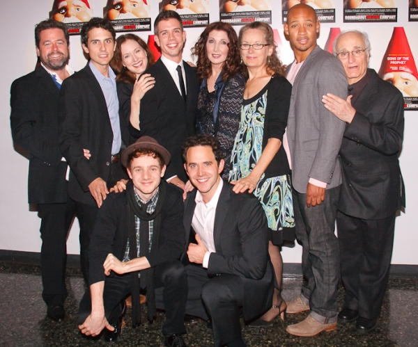 Peter DuBois, Charles Socarides, Dee Nelson, Chris Perfetti, Stephen Karam, Joanna Gleason, Santino Fontana, Lizbeth Mackay, Jonathan Louis Dent and Yusef Bulos at Roundabout Opens SONS OF THE PROPHET