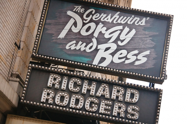 Photo Flash: New Marquee for PORGY & BESS