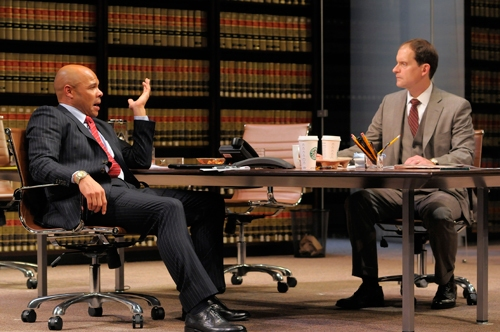 Law firm partners Jack Lawson (A.C.T. core acting company member Anthony Fusco, righ Photo