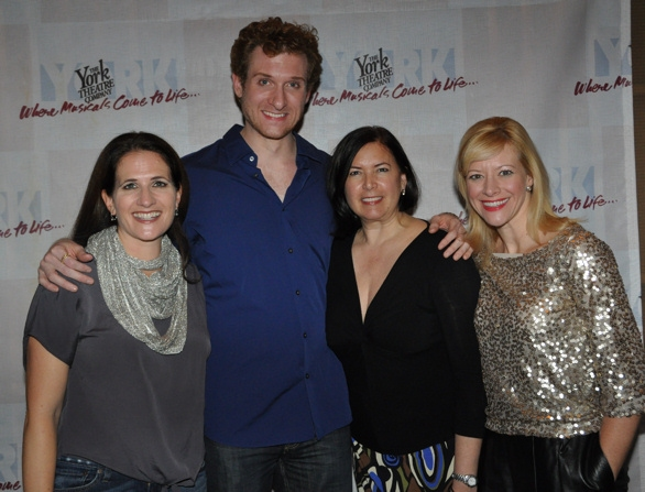 Anne Tolpegin, Mark Campbell, Karen Carpenter (Director) and Jennifer Hughes at York Theatre Presents-Musicals in Mufti-The Housewives' Cantata