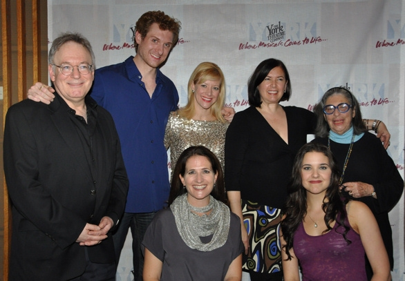 Bob Goldstone (Musical Director), Mark Campbell, Jennifer Hughes, Karen Carpenter, Mira J. Spektor (Composer), Anne Tolpegin and Kerry Conte at York Theatre Presents-Musicals in Mufti-The Housewives' Cantata