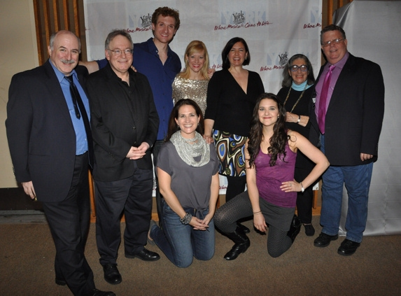 Geoff Cohen (Managine Director of The York Theatre), Bob Goldstone, Mark Campbell, Jennifer Hughes, Karen Carpenter, Mirs J. Spektor, James Morgan (Producing Artistic Director of The York Theatre), Anne Tolpegin and Kerry Conte at York Theatre Presents-Musicals in Mufti-The Housewives' Cantata