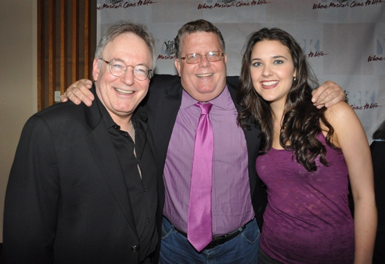 Bob Goldstone, James Morgan and Kerry Conte Photo