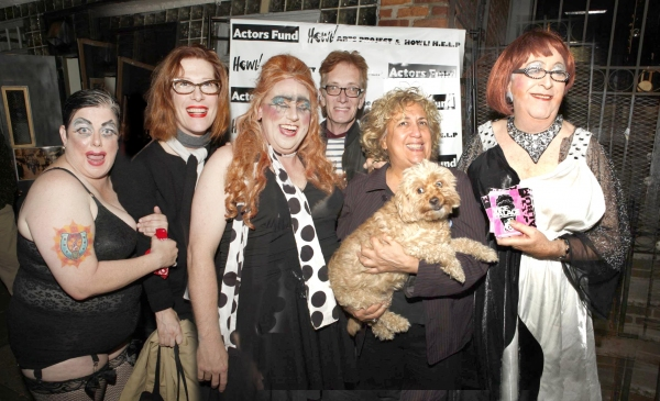 Leigh Crow, Justin Vivian Bond, Russell Blackwood, guest, Reno (with canine companio Photo