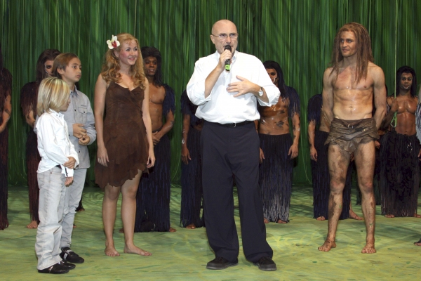 Oct. 22, 2011 - Hamburg, Hamburg, Germany - Phil Collins with his sons Mathew and Nicolas and musical-actors Elisabth Huebert (Jane) and Alexander Klaws (Tarzan) attends the third birthday of the Disney-Musical 'Tarzan' at Neue Flora, Hamburg (Credit I