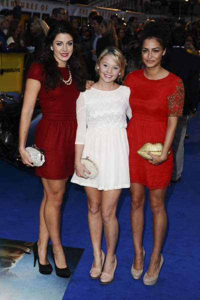 Oct. 23, 2011 - London, England, United Kingdom - Bianca Hendricks-Spendlove, Jessica Forrest and Anna Shaffer.arrives for the ''Tintin'' premiere at the Odeon West End, London...©Ash Knotek  D2336 23/10/2011. (Credit Image: © Snappers/ZUMAPRES