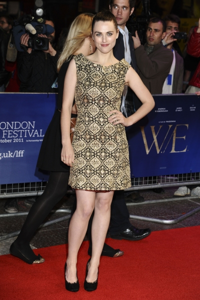 Oct. 23, 2011 - London, England, United Kingdom - Katie McGrath.arrives for the premiere of 'W.E.', as part of the London Film Festival 2011, at the Vue West End, London...©Ash Knotek D2337 23/10/2011. (Credit Image: © Snappers/ZUMAPRESS.com) at W.E. Premieres at London Film Festival