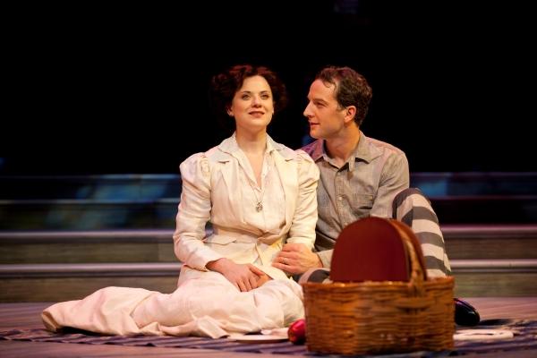 Jenny Fellner as Lucille Frank and Euan Morton as Leo Frank Photo