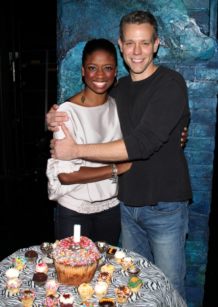 Photo Coverage: Backstage Birthday Celebration for Adam Pascal at MEMPHIS!