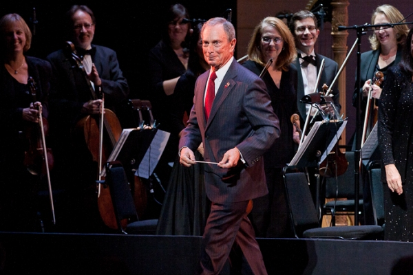 Mayor Michael Bloomberg and The Encores! Orchestra