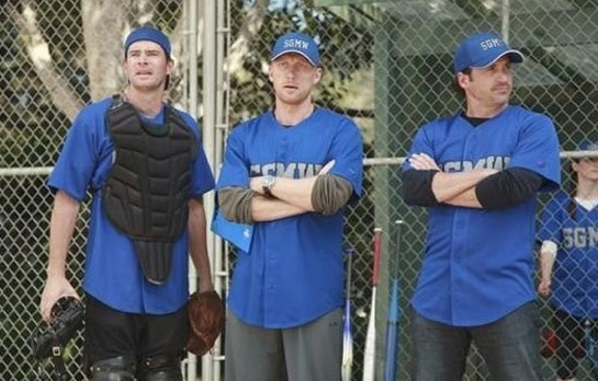 Scott Foley, Kevin Mckidd & Patrick Dempsey at GREY'S ANATOMY Plays Ball on Thursday's  Episode