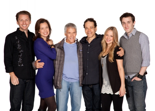 Jason Danieley and Michelle Duffy, composer Burt Bacharach, playwright and lyricist Steven Sater and actors Jenni Barber and Andrew Mueller