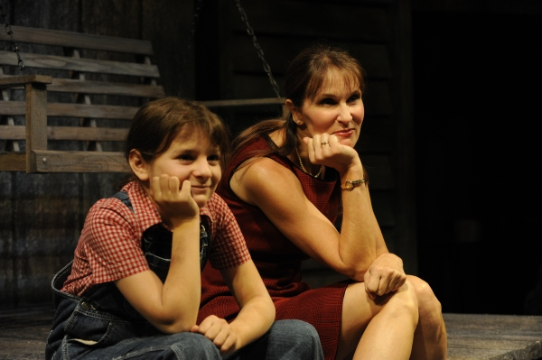 Caroline Rosenblum and Kathleen McCall as Scout at BWW Reviews: Denver Center's TO KILL A MOCKINGBIRD - A Masterpiece