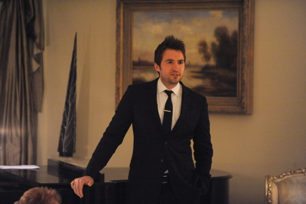 Opera singer Nathan Pacheco gives a living room performance as part of the Geffen Pla Photo