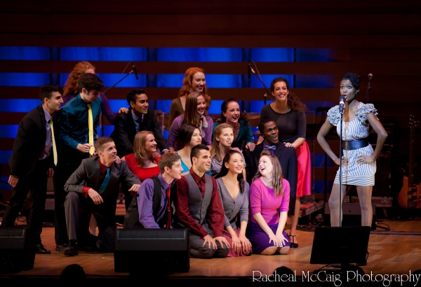 "Jewelle Blackman and students during ""Brotherhood of Man"""