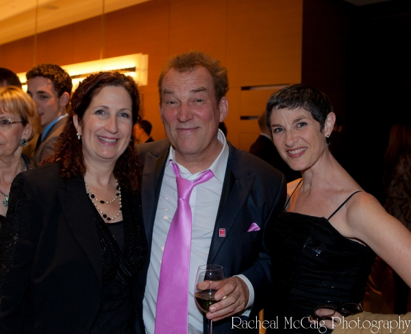 Director and Event Organizer Peggy Shannon with Des McAnuff and Mindy Cooper  Photo