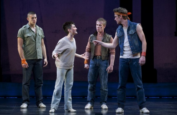 Casey Garvin, Alexandra Frohlinger, Nathan Keen and Jon Drake at New Cast Joins WEST SIDE STORY National Tour!
