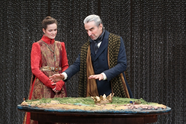 Enid Graham and Sam Waterston in King Lear, directed by James Macdonald, running at The Public Theater through November 20. Photo Credit: Joan Marcus.