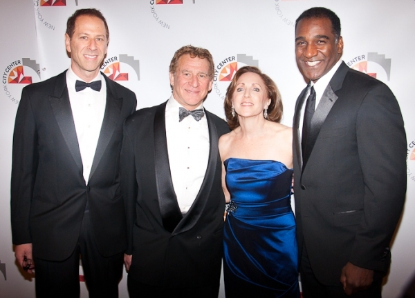 Matt Messenger, Jerry Meyer, New York City Center President Arlene Shuler and Norm Lewis. Photo Credit: Peter James Zielinski