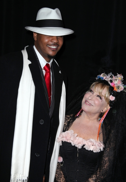 Carmelo Anthony & Bette Midler at Bette Midler's 'Hulaween' Gala Benefit