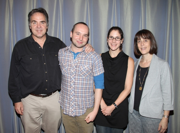 Tim Sanford, Jordan Harrison, Anne Kauffman and Leslie Marcus  at MAPLE AND VINE Begins Rehearsals at Playwrights Horizons