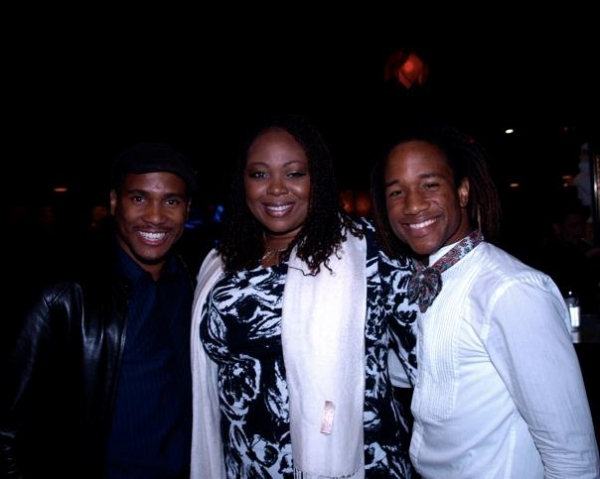 Eric B. Anthony, Gwen Stewart and Marcus Terrell Photo