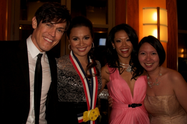 MiG Ayesa, Lea Salonga, J. Elaine Marcos, publicist Carissa Villacorta at  Salonga, Ayesa, Marcos et al. at TOFA-NY Awards